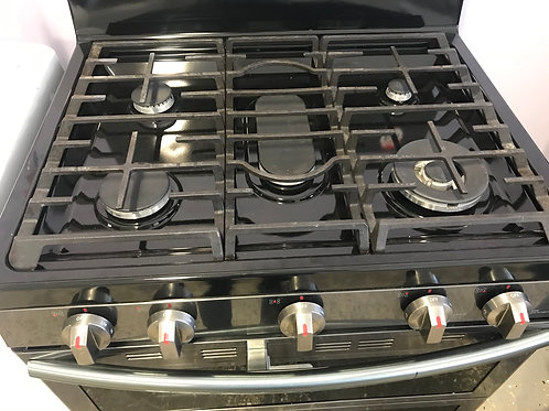 Samsung return model blk stainless double oven Gas stove.