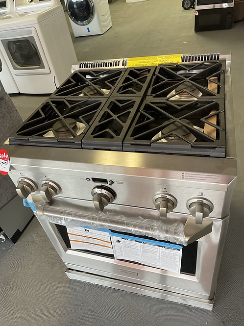 """Monogram new open box scratch and dent Comercial gas range 30"""""""