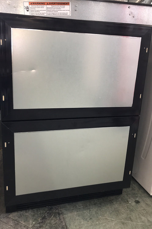 Kitchen aid brand new open box double drawer refrigerator and freezer. (As is).