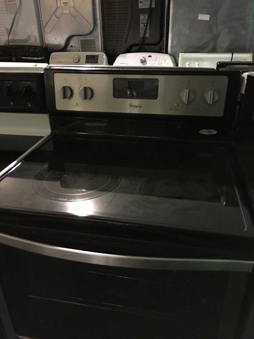 Whirlpool stainless glass top
