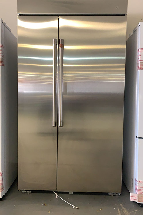 """ge cafe 42"""" smart built in side by side stainless steel fridge with warrnty"""