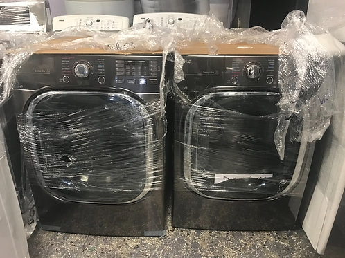LG brand new open box blackstainless stackable washer dryer set.
