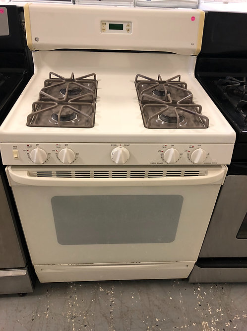 "30"" GE GAS STOVE OFF WHITE WITH WARRANTY"