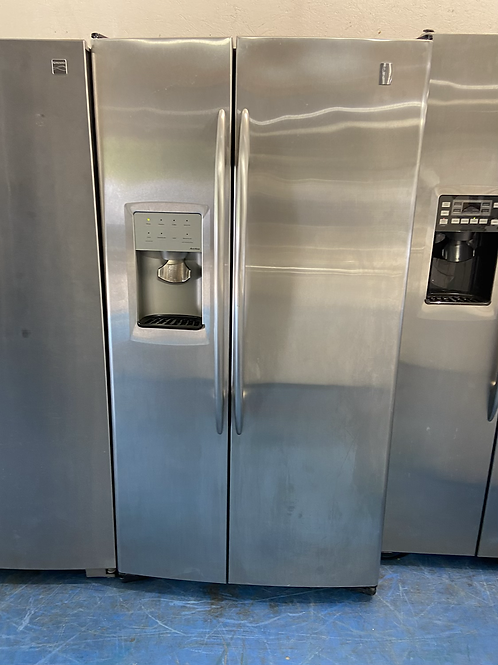 """36"""" ge profile stainless side by side fridge with 60 days warranty"""