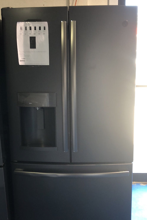 New scratch dent ge black stainless frenchdoor fridge with 1 year warranty