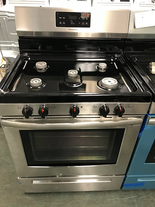 Frigidaire brand new open box stainless steel gas stove.