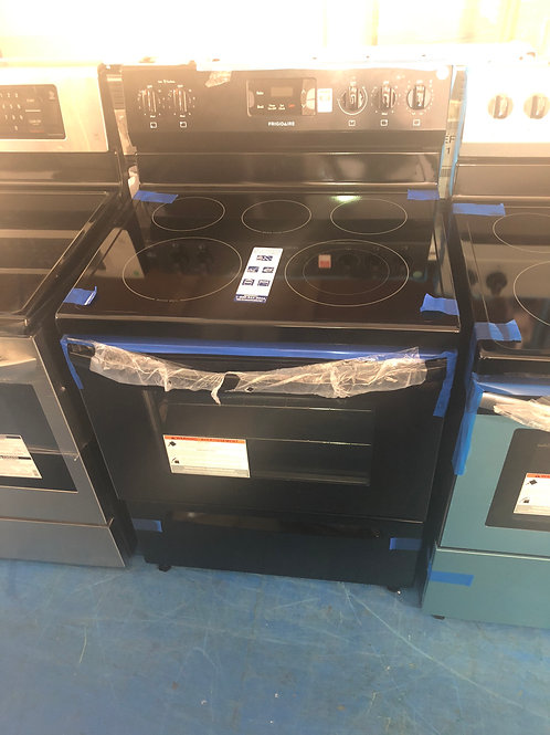 New open box frigidaire Electric stove with 1 year manufactured warranty