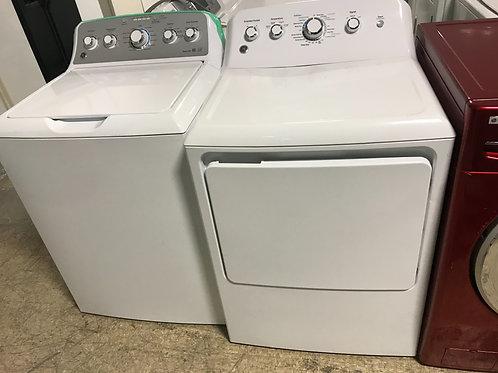 Ge brand refurbished top load washer dryer set works great.