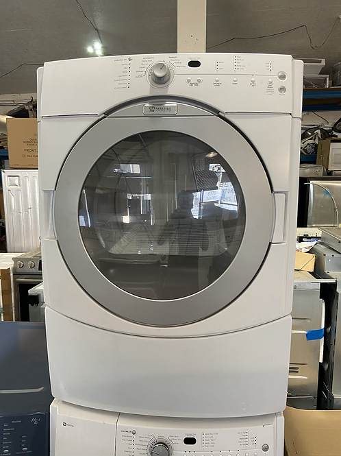 Maytag stackable washer dryer set with warranty