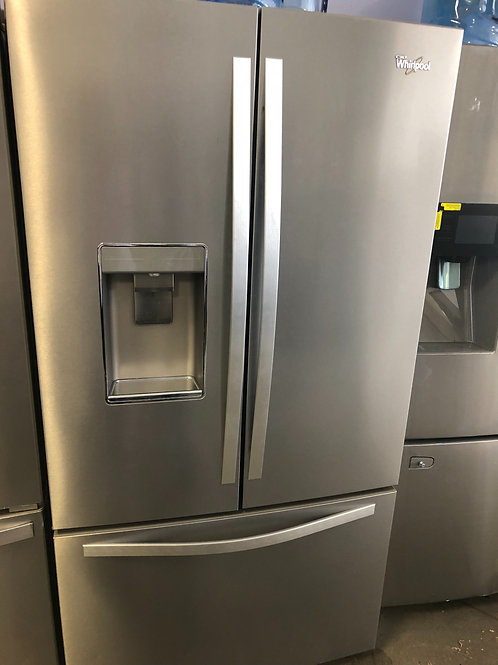 36by69 NEW WHIRLPOOL FRENCH DOOR FRIDGE STAINLESS STEEL WITH ONE YEAR WARRANTY
