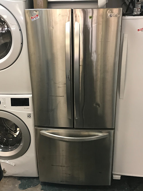 """LG brand new scratch and dent model stainless steel 30"""" French door refrigerator"""