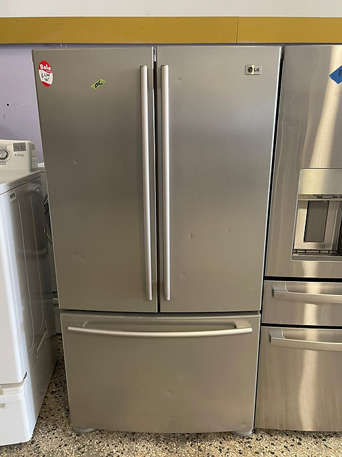 lg french door stainless steel fridge with warrnty