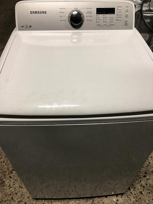 Samsung brand refurbished top load washer with warranty.