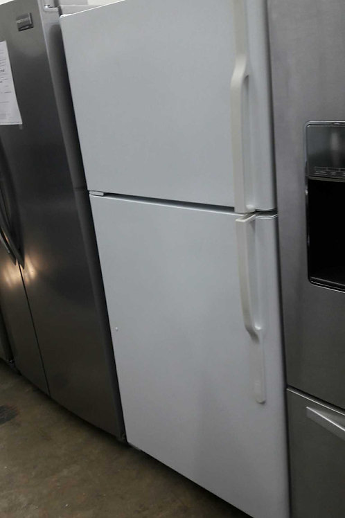 "30""width GE top and bottom fridge white"