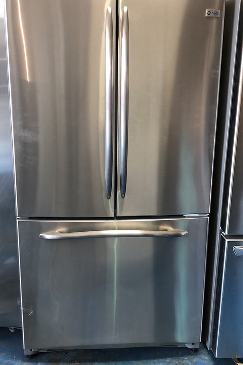 """36""""ge profile stainless Frenchdoor with ice maker 90 days warranty"""