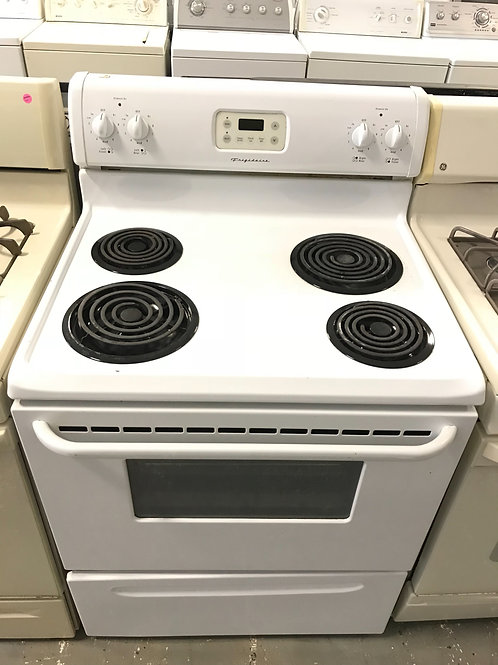 Frigidaire brand refurbished electric coil top stove.