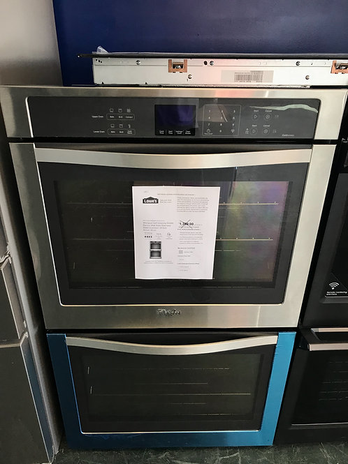 New Whirlpool stainless steel double oven
