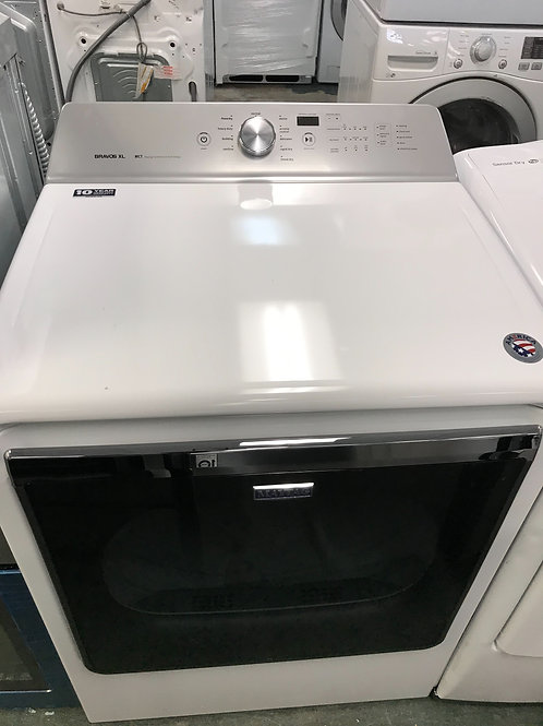 Maytag brand new open box front load dryer with 1 year warranty.