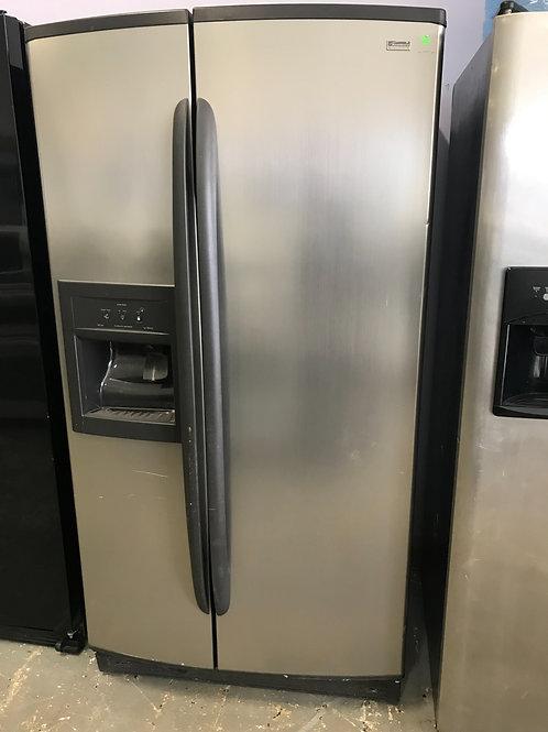 "Kenmore brand refurbished side by side refrigerator 36"" works great."