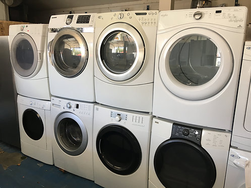 "27""STACKABLE WASHER DRYER SET GREAT WORKING 90 DAYS WARRANTY"