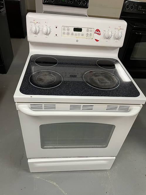 Ge refurbished electric glass top stove working condition with warranty