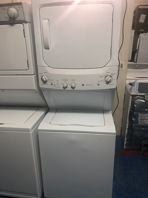 "27""ge stackunit washer dryer great works with 90 days warranty"