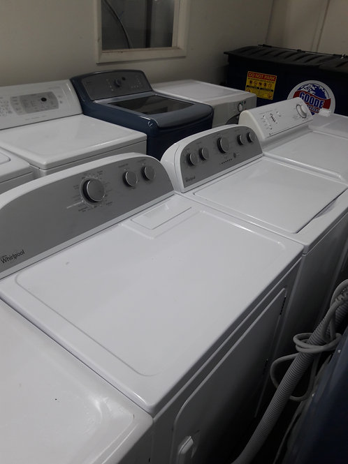 New open box whirlpool gas dryer with washer
