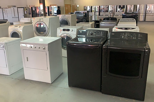 used washer and dryr set good working with warrnty