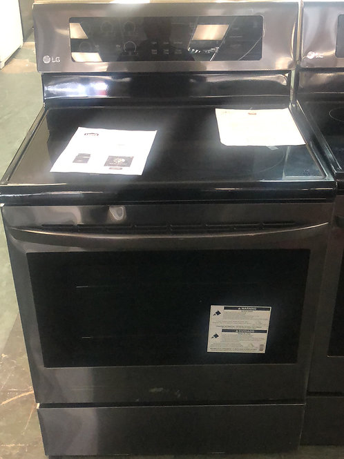 Brand new LG balck stainless electric glass top stove with one year warranty
