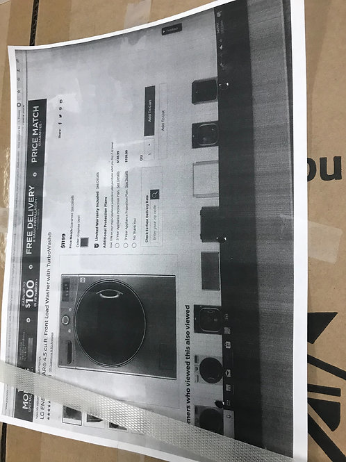 LG brand new in box graphite washer frontload works great.