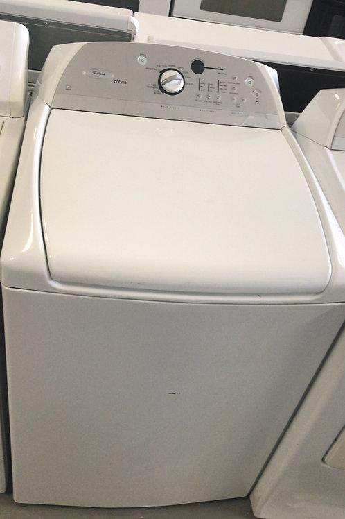Whirlpool brand refurbished top load washer works great 60 days warranty.