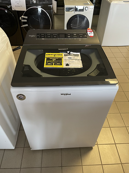 Whirlpool new open box Top load washer with 1 year Warranty.