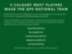 4 Calgary West players make the GPS Nati