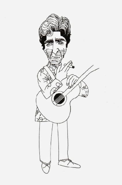 Caricatura de Sabina por Alfredo