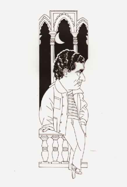 Caricatura de Carlos Cano por Alfredo