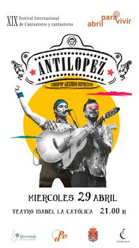 Cartel del concierto suspendido de Antílopez en el teatro Isabel la Católica