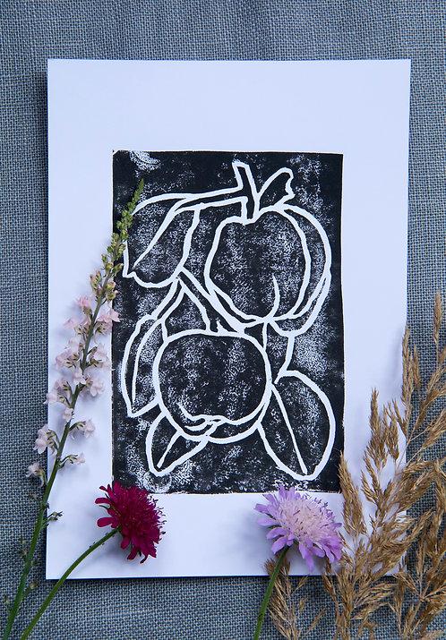 Quinces (A5 Block Print, Black)