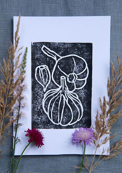 Garlic (A5 Block Print)