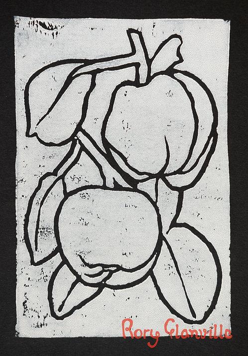 Quinces (A5 Block Print, White)
