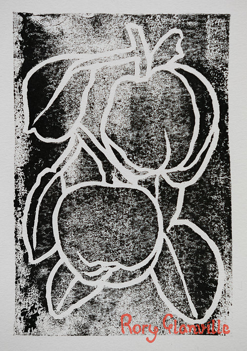 Quinces (A5 Block Print, Black)