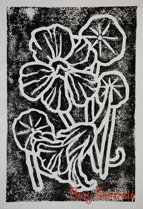 Nasturtiums (A5 Block Print)
