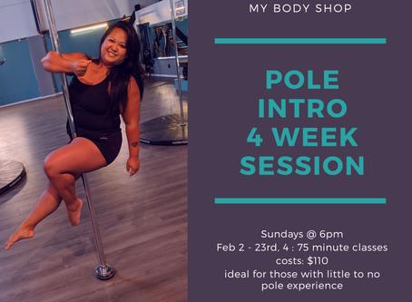 Pole Intro Session starting Sunday
