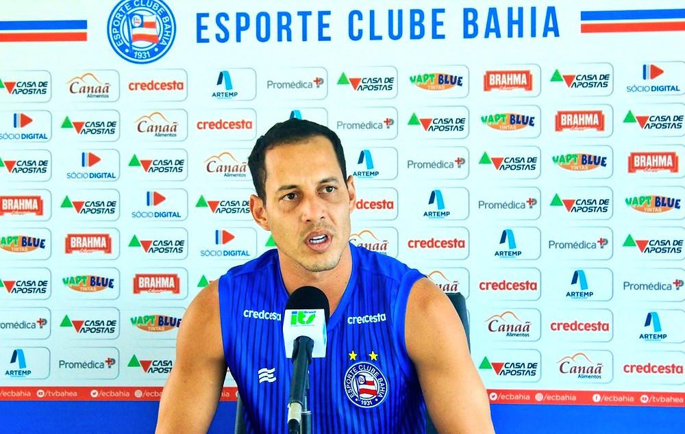 O meia Rodriguinho é a principal esperança de gol para o Bahia na decisão Foto: Reprodução Twitter/Bahia