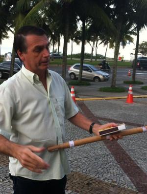 O atual presidente do Brasil se envolveu nesse episódio na Barra da Tijuca Foto: Vicente Seda