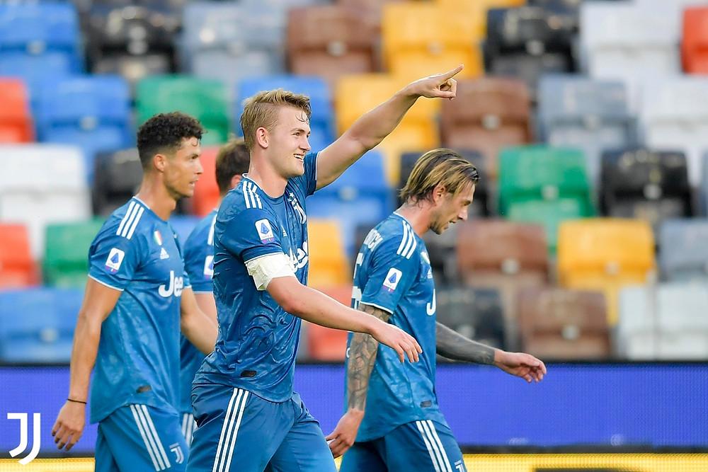 De Ligt foi o autor do único gol da Juventus na partida Foto: Reprodução Twitter/Juventus