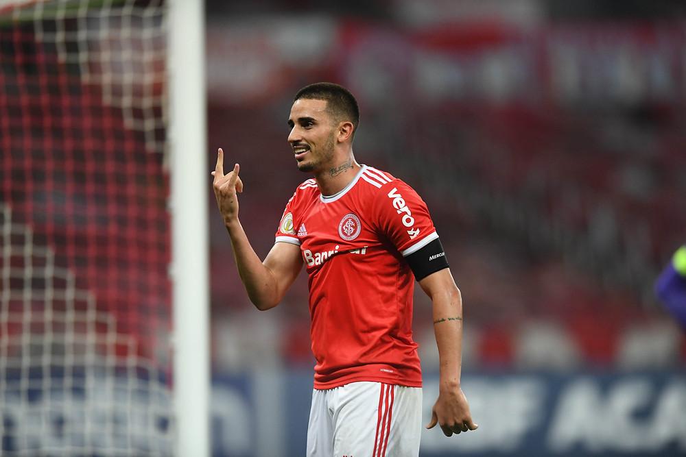 Thiago Galhardo é a esperança de gol para o time do Internacional Foto: Reprodução Twitter/Internacional