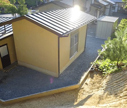 小屋の曳家 完成