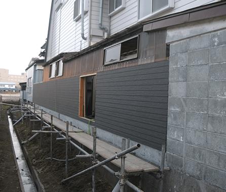 地震で壊れたブロック塀 修復