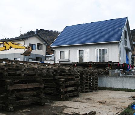 地震で壊れた基礎を新設ご曳家3
