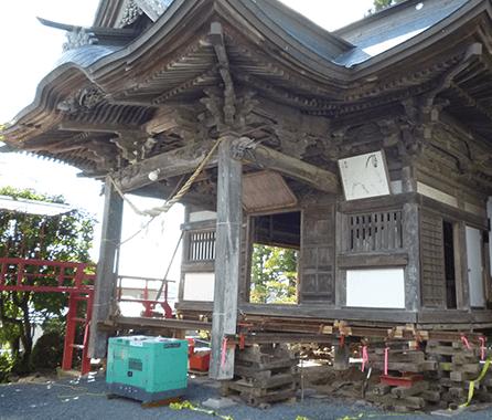 神社の嵩上げ2